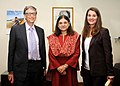 Mr. and Mrs. Bill and Melinda Gates, Co-Chairs of the Bill & Melinda Gates Foundation calls on the Union Minister of Women and Child Development, Smt. Maneka Sanjay Gandhi, in New Delhi on September 19, 2014.jpg
