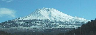 Geography of California - Mount Shasta from Interstate 5