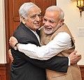 Mufti Mohammad Sayeed hugs Prime Minister Narendra Modi.jpg