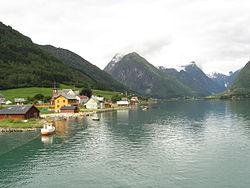 View of Mundal in Fjærland