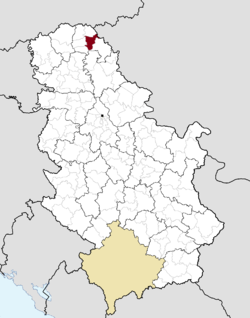 Location of Čoka within Serbia