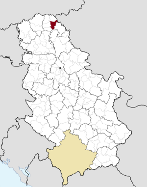 Čoka - Image: Municipalities of Serbia Čoka