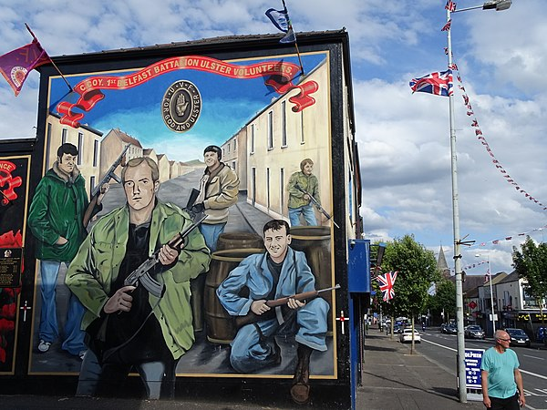 Mural Commemorating Ulster Volunteers - Along Shankill Road - Belfast - Northern Ireland - UK (28731250527).jpg