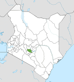 Location of Muranga County (Green)