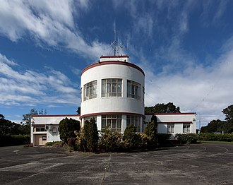 Musick Point - The radio station building.