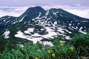 Mount Hiuchi - Image: Myokousan from hiutiyama 1996 6 29