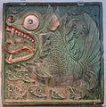 Mythical fish Makara tomb tile, China, 550-600 AD, glazed earthenware - Royal Ontario Museum - DSC04071.JPG