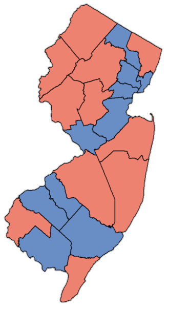 United States Senate election in New Jersey, 2000 - Image: NJ Sen Counties 00