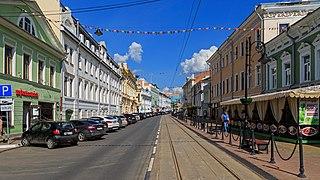 Rozhdestvenskaya Street street in Nizhny Novgorod, Russia