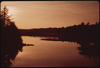 Anne LaBastille - Image: NORTH BRANCH OF THE MOOSE RIVER SEEN FROM THE BRIDGE AT THENDARA. SUNSET NARA 554404