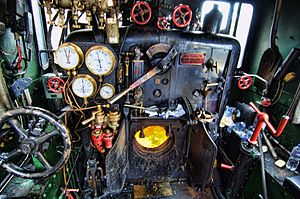 New South Wales C30T class locomotive - 3016 cab view Canberra Railway Museum
