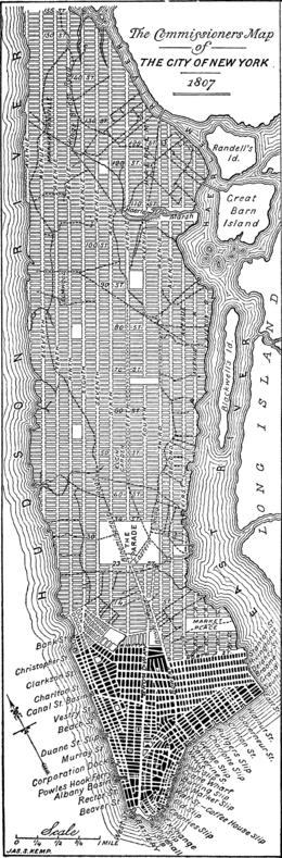 Схема планировки Манхэттена