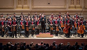 Ludovic Morlot - Ludovic Morlot with the National Youth Orchestra of China at Carnegie Hall on July 22, 2017.
