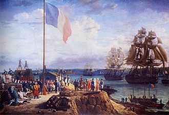 History of Lower Normandy - Napoleon I of France and Marie Louise attending a naval review in Cherbourg in 1811