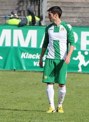 Hammarby Fotboll - Previous Hammarby midfielder Nahir Besara wearing the 2013 home kit.