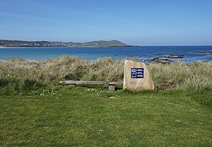 Narin, County Donegal - Image: Narin & Portnoo Golf Club 10th hole sign