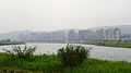 Neihu District and Keelung River in Fog 20100102.jpg