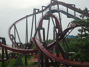 Inverted roller coaster - A Bolliger & Mabillard inverted roller coaster, Nemesis Inferno at Thorpe Park