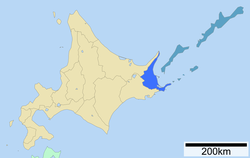 Location of Nemuro Subprefecture