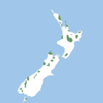 Scattered populations across New Zealand