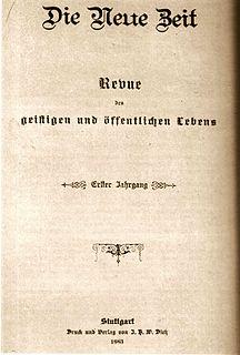 <i>Die Neue Zeit</i> periodical literature