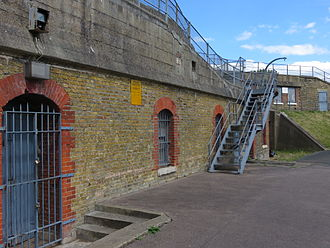 Gravesend - Part of the northern defence at New Tavern Fort, Milton, Gravesend