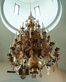 New Valamo monastery main church, chandelier.jpg