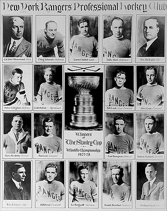 1928 Stanley Cup Finals - New York Rangers 1928 Stanley Cup champions