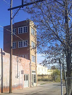 Color photograph of the Newby-McMahon Building in Wichita Falls, Texas.