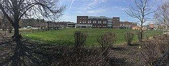 Newton North High School - Image: Newton North High School panorama.agr
