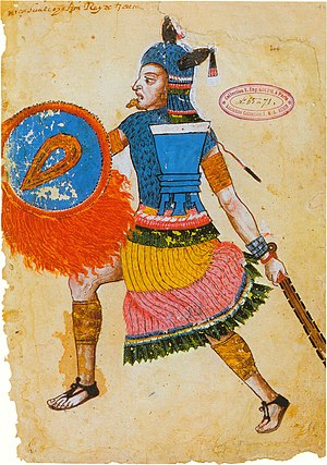 Texcoco (altepetl) - Nezahualcoyotl as shown in the Codex Ixtlilxochitl, folio 106R, painted roughly a century after Nezahualcoyotl's death.