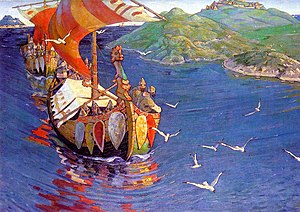 Nicholas Roerich, Guests from Overseas (corrected colour).jpg