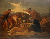 Nicolas Poussin- Queen Zenobia Found on the Banks of the Arax.JPG