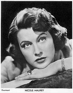 Nicole Maurey French actress