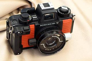 Nikonos Brand of 35mm film amphibious cameras