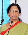 Nirmala Sitharaman addressing at the inauguration of the 2nd Edition of the Global Exhibition on Services-2016 (GES), at India Expo Centre & Mart, Greater Noida, Uttar Pradesh (cropped).jpg
