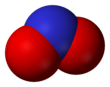 The nitrite anion (space-filling model)