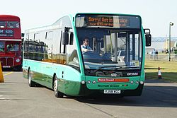 Norfolk Green bus 502 (YJ58 VCC), Showbus 2009.jpg