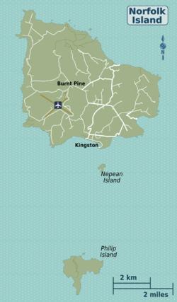 Norfolk island travel guide at wikivoyage norfolk island regions mapg sciox Images