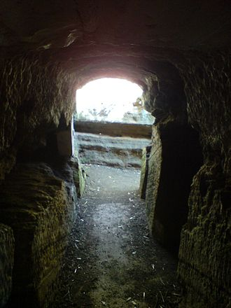 North Head, New Zealand - One of North Head's tunnels