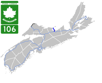 Nova Scotia Highway 106 - Image: Nova Scotia 106 Map