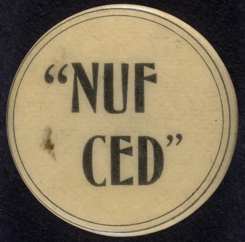 Nuf Ced Button