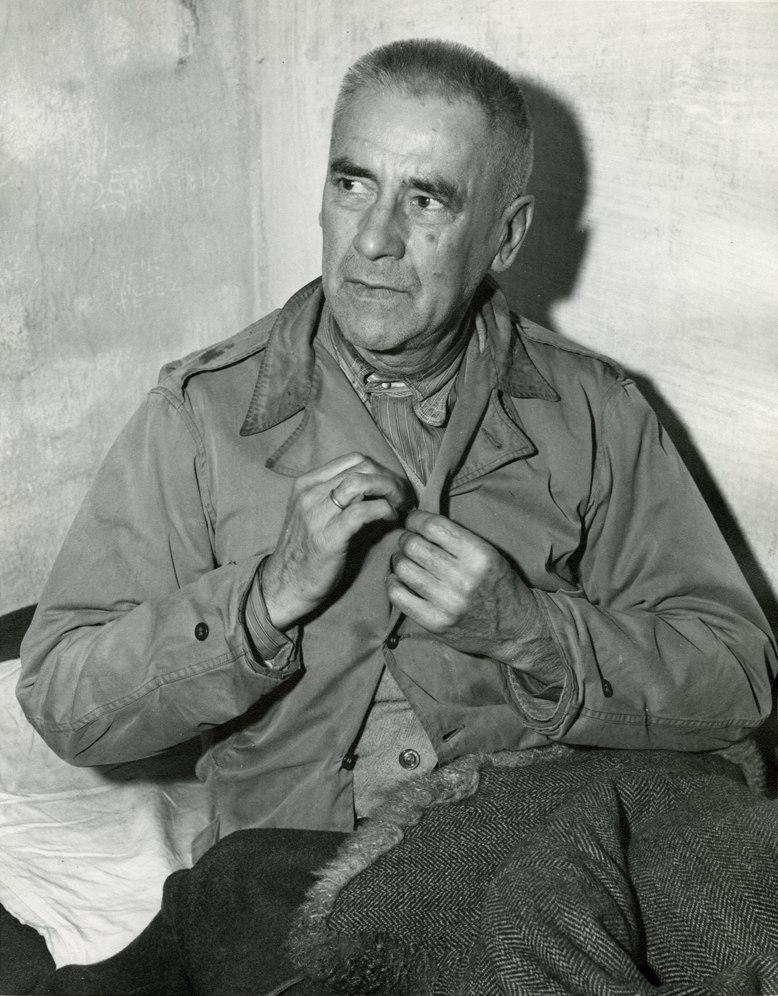 Nuremberg Trials defendant Wilhelm Frick in his cell 1945.jpeg