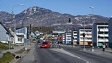 Una via del centro di Nuuk
