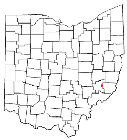 Location of Summerfield, Ohio