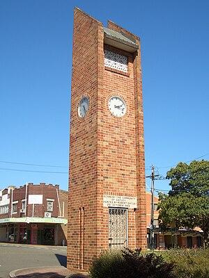 Oatley, New South Wales - Oatley Clock Tower, Frederick Street