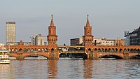 Oberbaumbrücke, Berlin, Northwest view 20130725 1.jpg