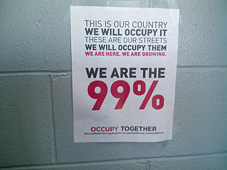 We are the 99% - Occupy Wall Street Poster