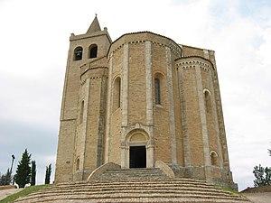 Offida - The apses of Santa Maria della Rocca