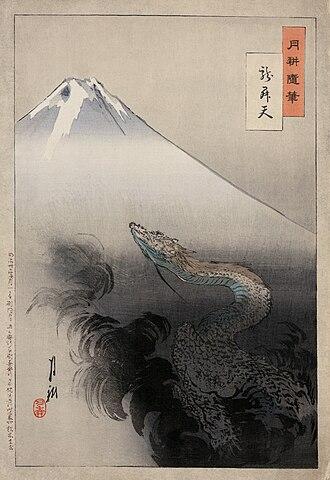 1897 in art - Ogata Gekkō, Ryu sho ten, from his Views of Mount Fuji